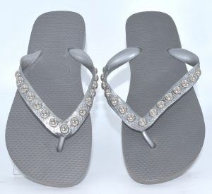 Top Metalic Grey S with Silver Round Studs